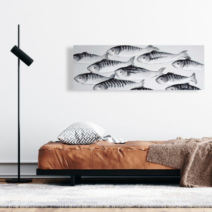 Gray school of fish 1