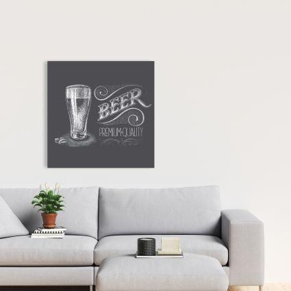 Vintage beer signboard