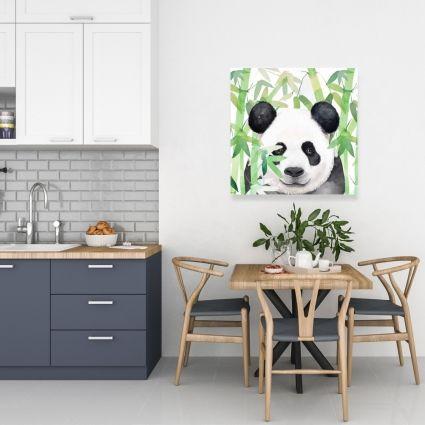 Hidden panda in bamboo