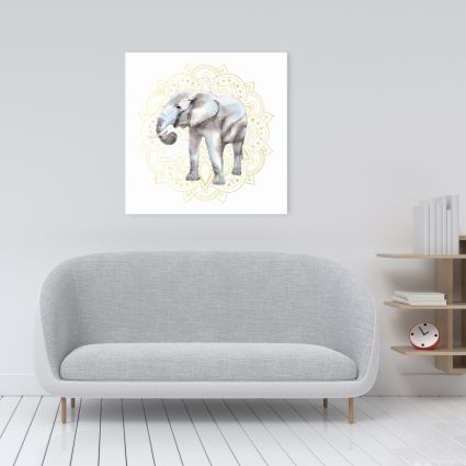 Elephant on mandalas pattern