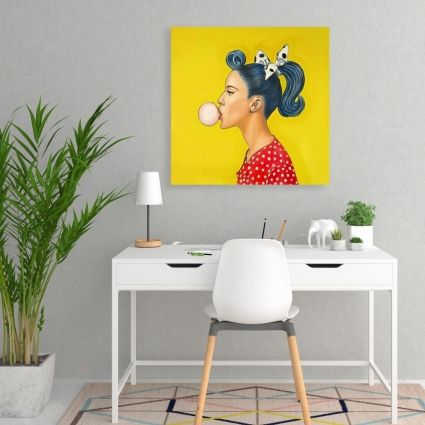 Retro woman with beautiful ponytail