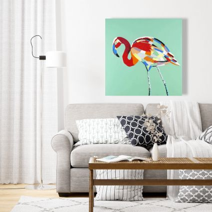 Multicolored flamingo
