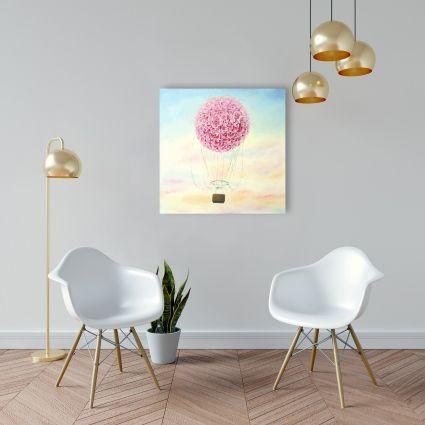 Hot air balloon hydrangea flowers
