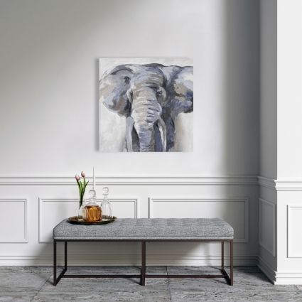 Pastel blue elephant