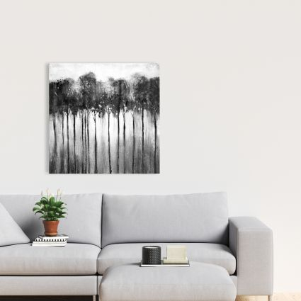 Abstract forest black and white