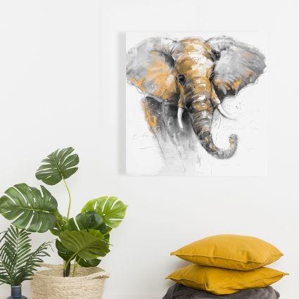 Beautiful golden elephant