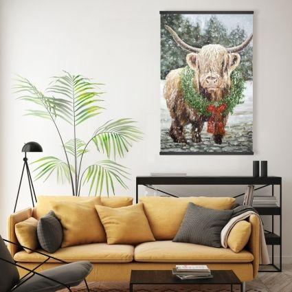 Highland christmas cow
