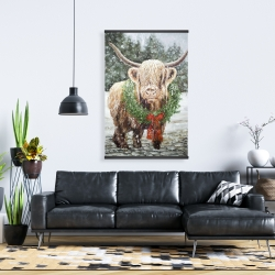 Magnetic 28 x 42 - Highland christmas cow