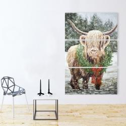 Canvas 40 x 60 - Highland christmas cow