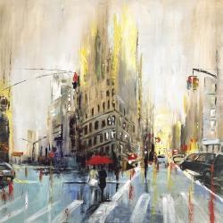 Abstract rainy street