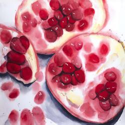 Pomegranate pieces