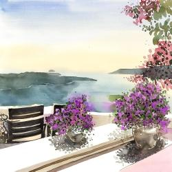 Mediterranean sea view