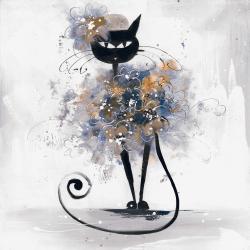Cartoon black cat