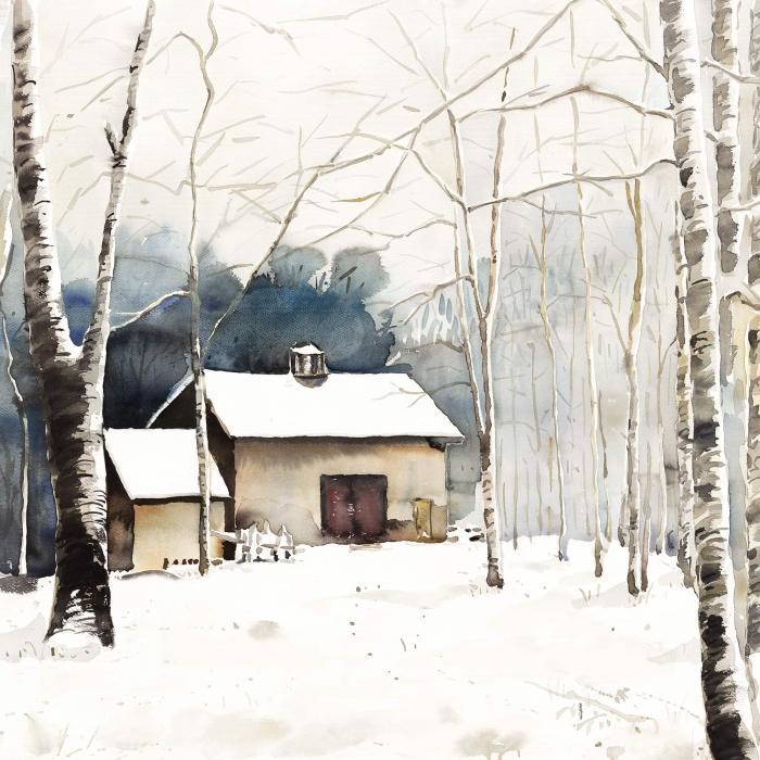 Small winter barn