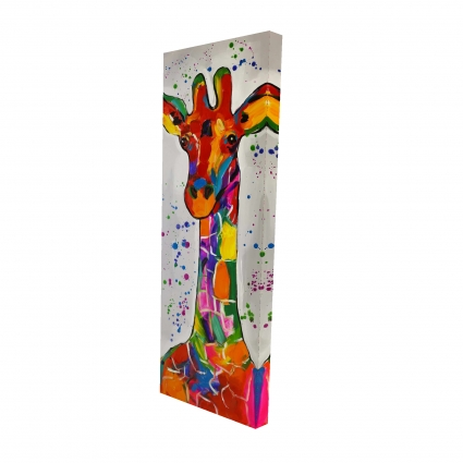 Abstract colorful giraffe with paint splash