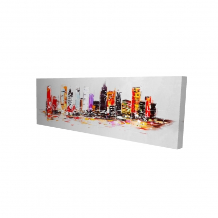 Abstract city in bright colors