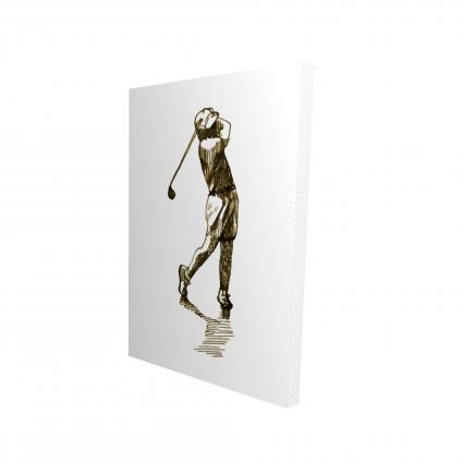 Illustration of a golfer