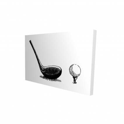 Illustration of a golf club bw
