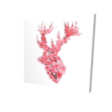 Deer with cherries blossom