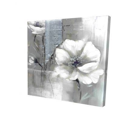 Monochrome and silver flowers