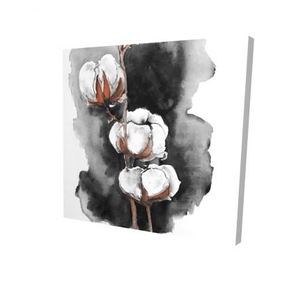 Watercolor cotton flowers
