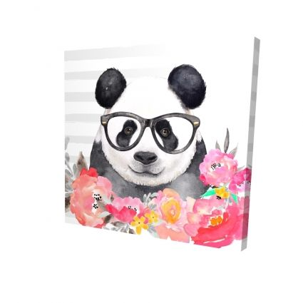 Panda with glasses