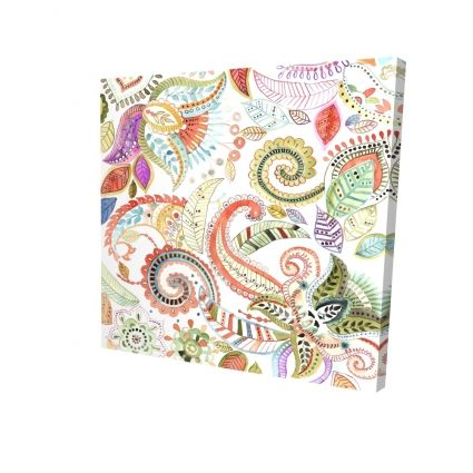 Watercolor paisley floral