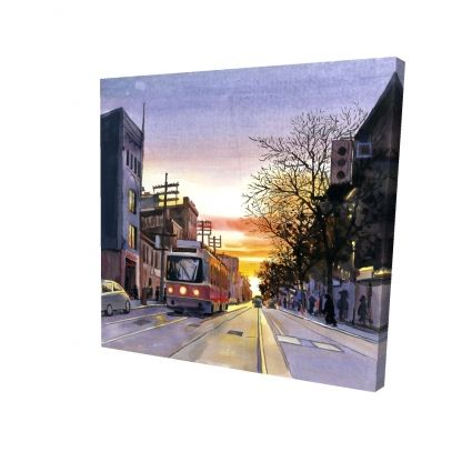 Sunset streetscape to toronto