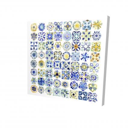 Watercolor traditional moroccan tiles