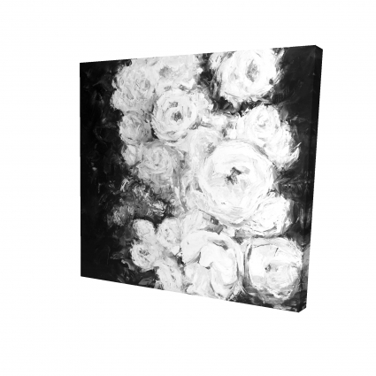Monochrome rose garden