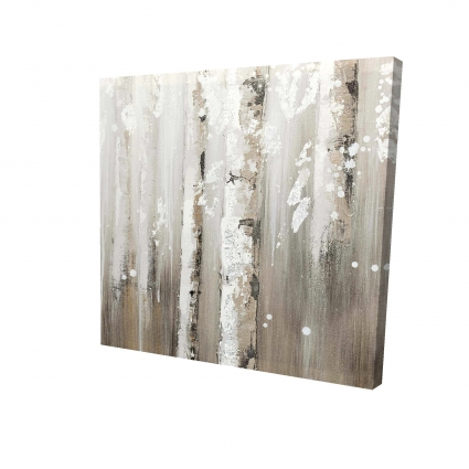Delicate birch trees