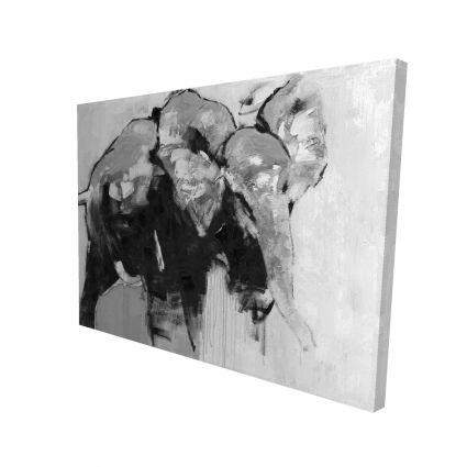 Monochrome abstract elephant
