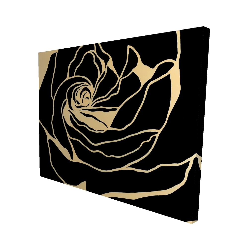 Silhouette of a rose
