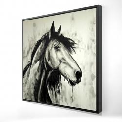 Framed 24 x 24 - 3D - Spirit horse